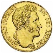 40 Francs - Léopold I – obverse