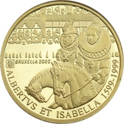 5000 Francs - Albert II (Brussels / Albert & Isabella) – obverse