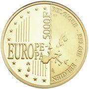 5000 Francs - Albert II (Brussels) – reverse