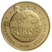 5000 Francs - Albert II (Charles V) – reverse