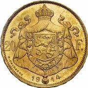 20 Francs - Albert I (French text) -  obverse