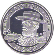 20 Euro - Albert II (Father Damian DeVeuster) – reverse
