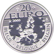 20 Euro - Albert II (Father Damian DeVeuster) – obverse