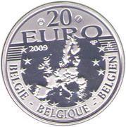 20 Euro - Albert II (Father Damian DeVeuster) – obverse