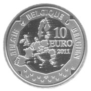 10 Euro - Albert II (Discovery of South Pole) – obverse
