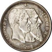 5 Francs - Léopold II (50 Years of Belgium) – obverse