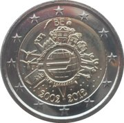 2 Euro - Albert II (10 Years of Euro Cash) – obverse