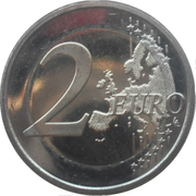 2 Euro - Albert II (10 Years of Euro Cash) – reverse