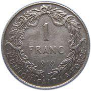 1 Franc - Albert I (French text) -  reverse