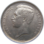 1 Franc - Albert I (Dutch text) – obverse