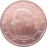5 Euro Cent - Albert II (2nd type, 2nd portrait) – obverse
