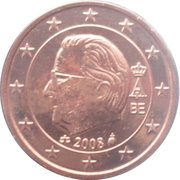 1 Euro Cent - Albert II (2nd type, 2nd portrait) – obverse