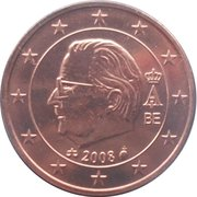 2 Euro Cent - Albert II (2nd type, 2nd portrait) – obverse