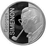 10 Euro - Albert II (Georges Simenon) – reverse