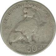 50 Centimes - Léopold II (dutch text) – reverse