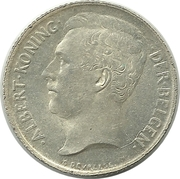 50 Centimes - Albert I (Dutch text) – obverse