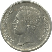 2 Francs - Albert I (Dutch text) – obverse