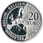20 Euro - Albert II (Hergé) – obverse