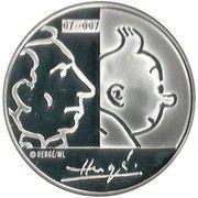 20 Euro - Albert II (Hergé) – reverse