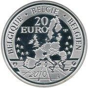 20 Euro - Albert II (A Dog of Flanders) – obverse