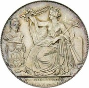 2 Francs - Léopold I (Dutch text; Anniversary of Inauguration) -  obverse