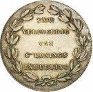 2 Francs - Léopold I (Dutch text; Anniversary of Inauguration) – reverse