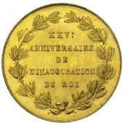 40 Francs  - Léopold I (Anniversary of Inauguration) – reverse