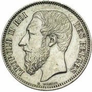 2 Francs - Léopold II (French legend) – obverse