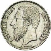 2 Francs - Léopold II (French legend) -  obverse