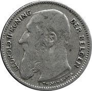 50 Centimes - Léopold II (Dutch text) -  obverse