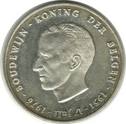 250 Francs - Baudouin I (25th Anniversary of Accession; Dutch text) – obverse