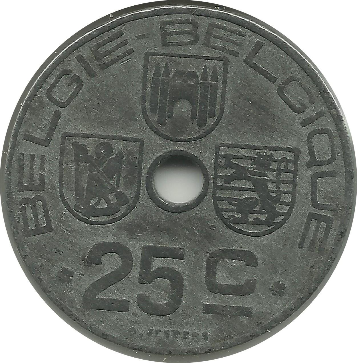 25 centimes - l u00e9opold iii  belgie-belgique