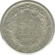 50 Centimes - Albert I (French text) -  obverse