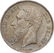 50 Centimes - Léopold II (French text) – obverse