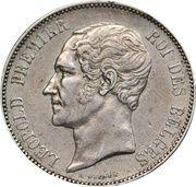 5 Francs - Léopold I – obverse