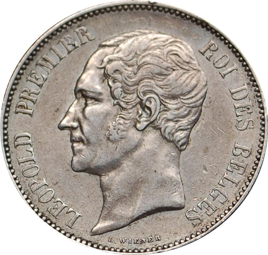 5 Francs L 233 Opold I Belgium Numista