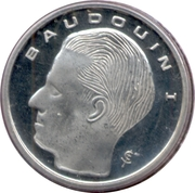 1 Franc - Baudouin I (French text) – obverse