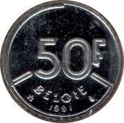 50 Francs - Baudouin I (Dutch text) -  reverse