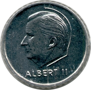 50 Francs - Albert II (dutch text; European Soccer Championship) – obverse
