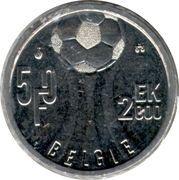 50 Francs - Albert II (dutch text; European Soccer Championship) – reverse