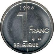1 Franc - Albert II (French text) -  reverse