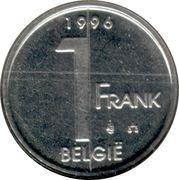 1 Franc - Albert II (Dutch text) -  reverse