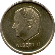 5 Francs - Albert II (Dutch text) -  obverse