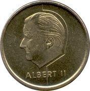 5 Francs - Albert II (Dutch text) – obverse