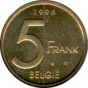 5 Francs - Albert II (Dutch text) – reverse