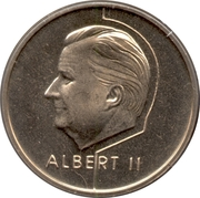 20 Francs - Albert II (French text) – obverse