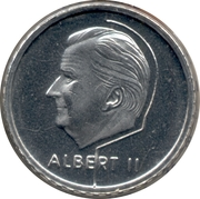 50 Francs - Albert II (French text) – obverse