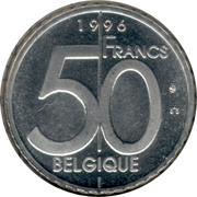 50 Francs - Albert II (french text) – reverse