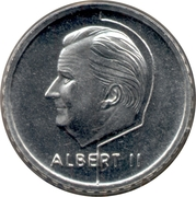 50 Francs - Albert II (Dutch text) – obverse