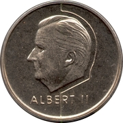 20 Francs - Albert II (Dutch text) -  obverse